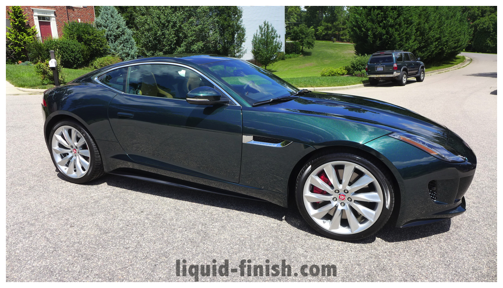 New Car Treatment 2014 Jaguar F Type R British Racing Green