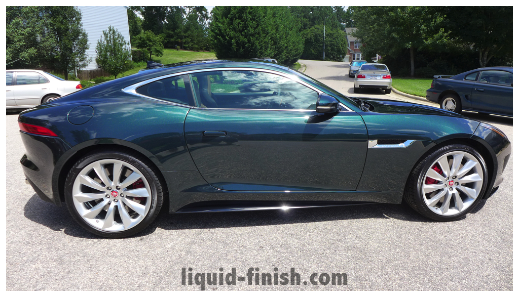 New Car Treatment 2014 Jaguar F Type R British Racing Green on jaguar f type car model