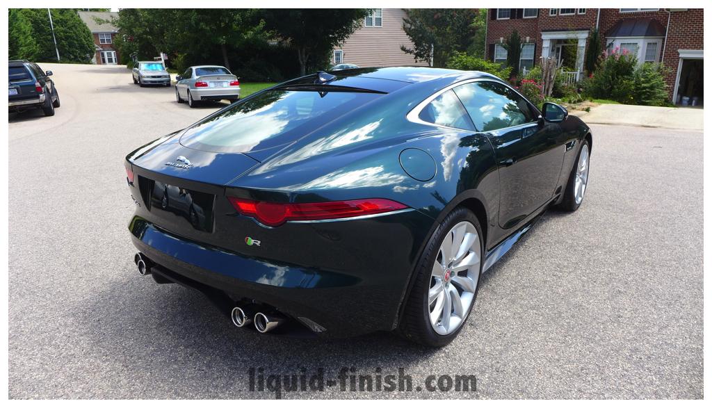 New Car Treatment 2014 Jaguar F Type R British Racing Green