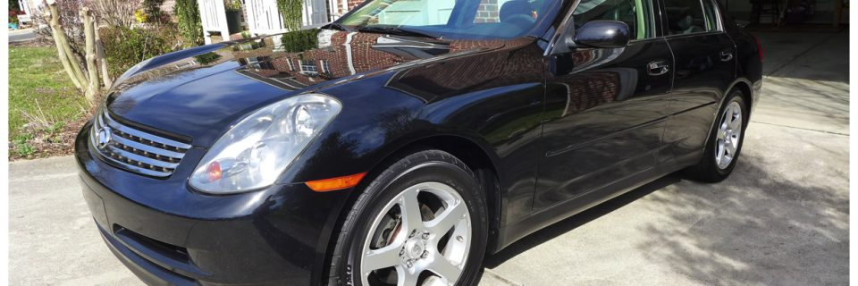Car Revival: 2004 Infiniti G35 Black with Paint Correction