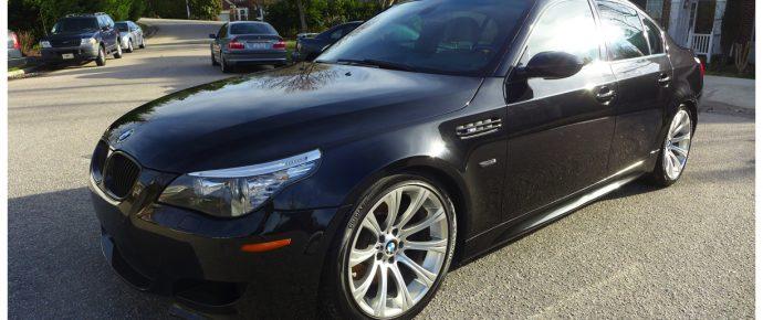 BMW M5 E60 Metallic Sapphire Black Paint Enhancement