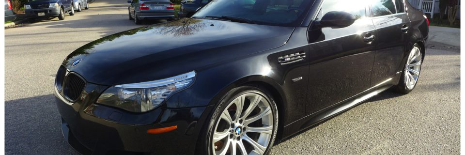 BMW M5 E60 Metallic Sapphire Black Paint Enhancement