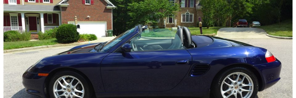 Paint Enhancement: 2003 Boxster Lapis Blue