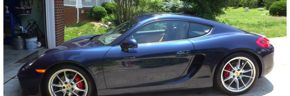 Maintenance Detail: 2014 Cayman Dark Blue Metallic