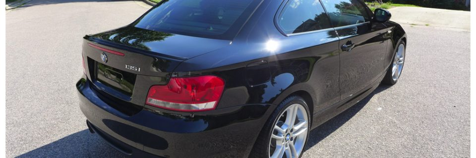 Paint Enhancement: 2012 BMW 135i Jet Black