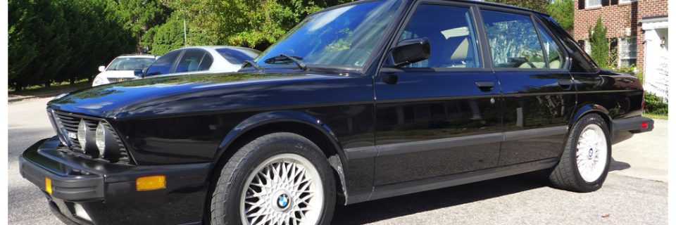 Paint Restoration: 1988 BMW M5 Single Stage Black