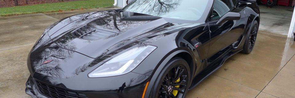 2015 Corvette Black Z06 Enhancement Detail
