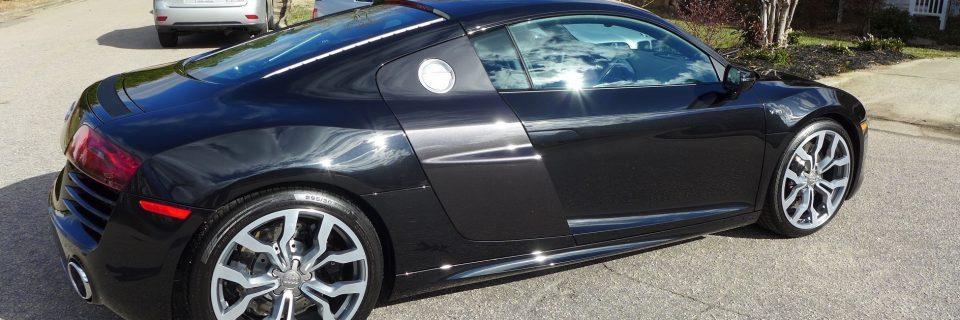 Audi R8 Phantom Black Paint Correction