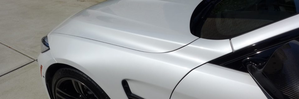 BMW M4 Mineral White Performance Kit Renewal Detail
