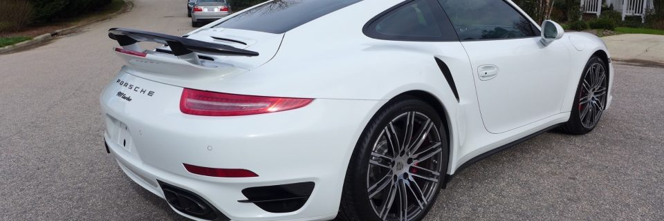 Porsche 991 Turbo White Paint Coating Treatment