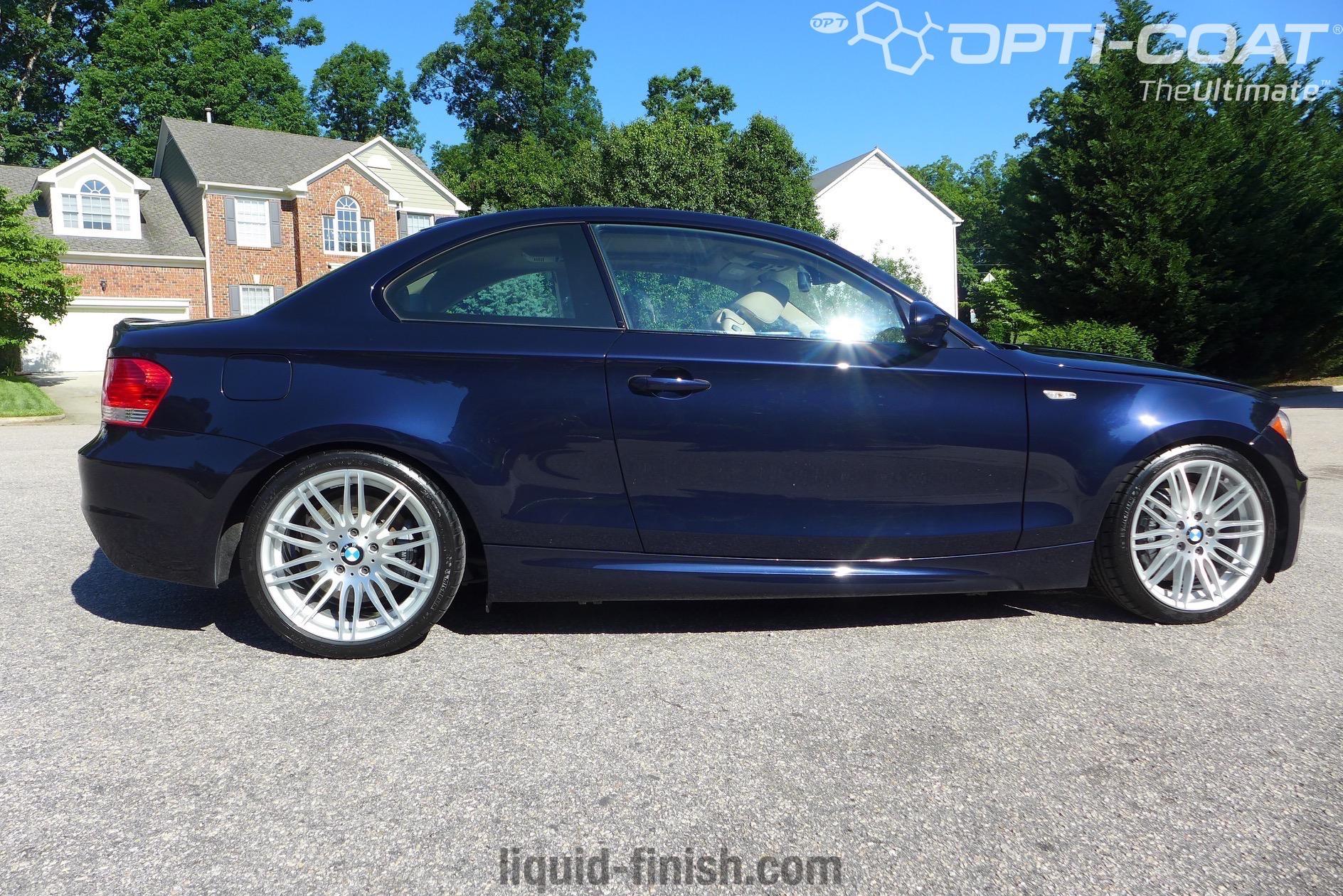 north carolina opti coat pro bmw 135i monaco blue