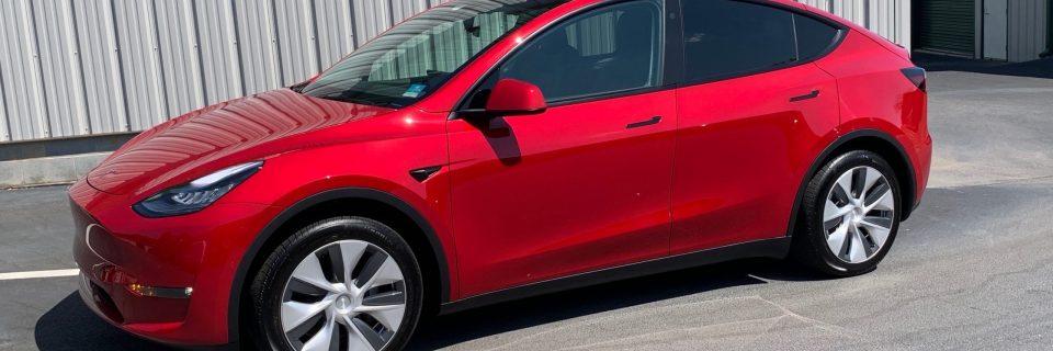 May Update: Tesla Model Y Red Multi Coat Opti Coat Pro Plus
